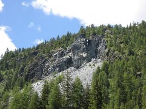 Asbestabbau oberhalb der Alp Quadrada